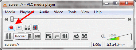menggunakan-VLC-Screen-Recording-Tool-Record-button-1