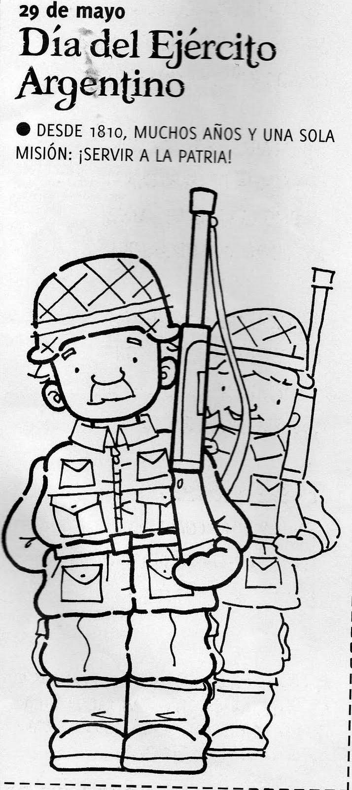 El Rincon De La Infancia 29 De Mayo Día Del Ejército Argentino