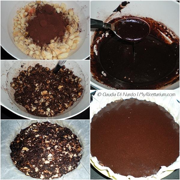Torta al cioccolato e biscotti senza cottura