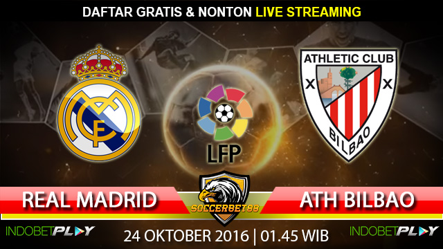 Prediksi Real Madrid vs Athletic Bilbao 24 Oktober 2016 (Liga Spanyol)