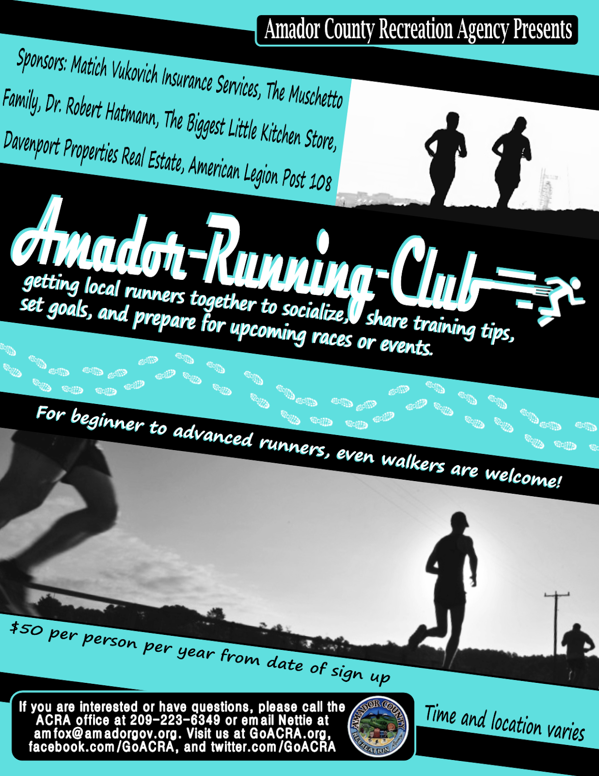 Amador Running Club - Sundays in Jackson