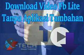 Cara Mudah Download Video Fb Lite Tanpa Aplikasi Tambahan