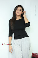 Telugu Actress Mishti Chakraborty Latest Pos in Black Top at Smile Pictures Production No 1 Movie Opening  0215.JPG