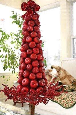 arvores de natal feita com macas