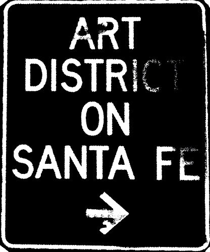 Art district sign