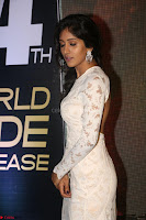 Chandini Chowdary in white Tight dress at Shamanthakamani pre release function ~  Exclusive 020.JPG