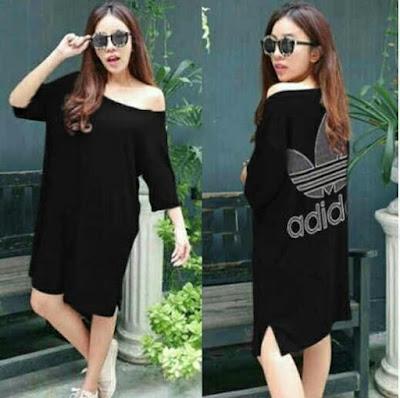 Jual Baju Big Size Dress Adidas - 12201
