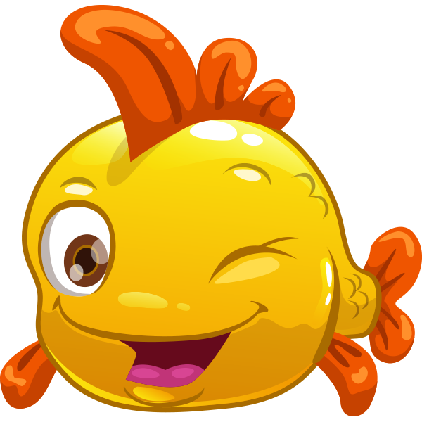 Winking fish emoticon
