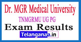 TNMGRMU Results 2017 MGRMU Result