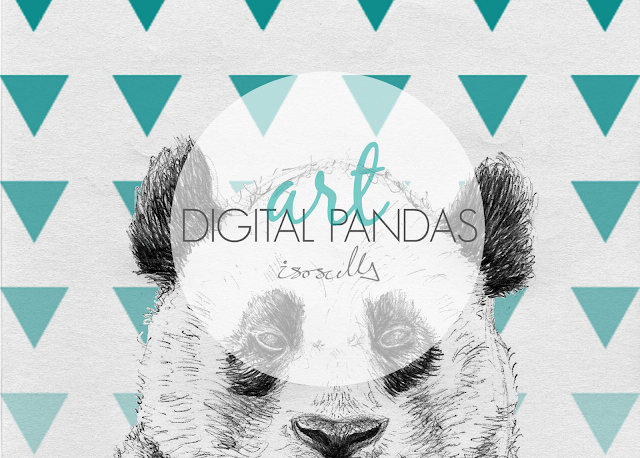 Biro sketch drawing illustration panda triangle header
