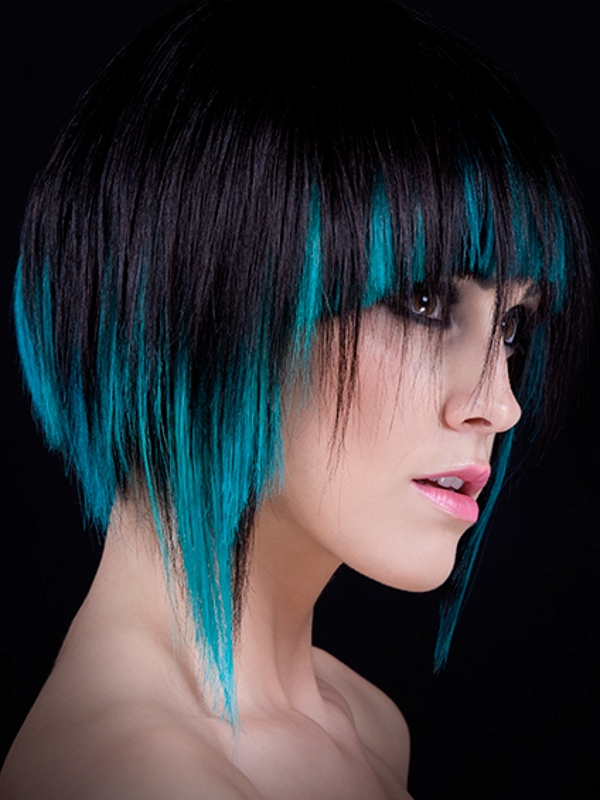 Black Hair With Blue Highlights More About Hairstyles