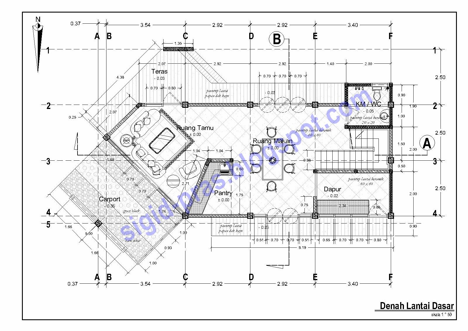 Image Result For Desain Rumah Kamar Satu Lantai