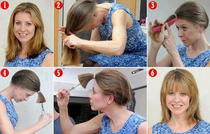 Taglio capelli scalato medio fai da te – Acconciature alla moda ... 6f6b0bf9b9c6