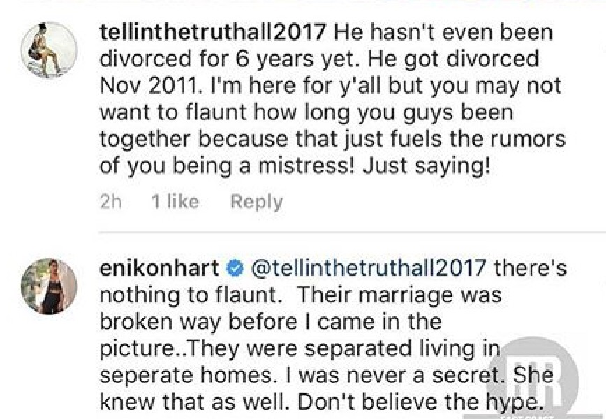 Kevin Hart's wife Eniko Parrish shades the crap out of his
