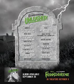 Frankenweenie Sång - Frankenweenie Musik - Frankenweenie Soundtrack - Frankenweenie filmusik