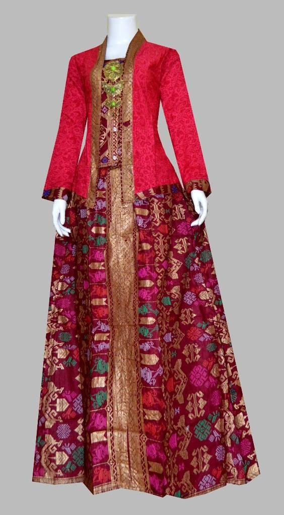 25 Model Baju Gamis Batik Dengan Desain Terbaru Masa Kini
