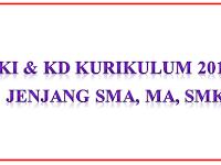 KI KD Kurikulum 2013 Jenjang SMA, MA, SMK Terbaru