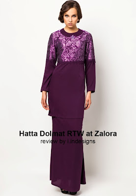 new fashion design baju raya hatta dolmat