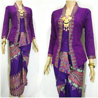Rok dan Blouse Batik Anisa motif prada ungu