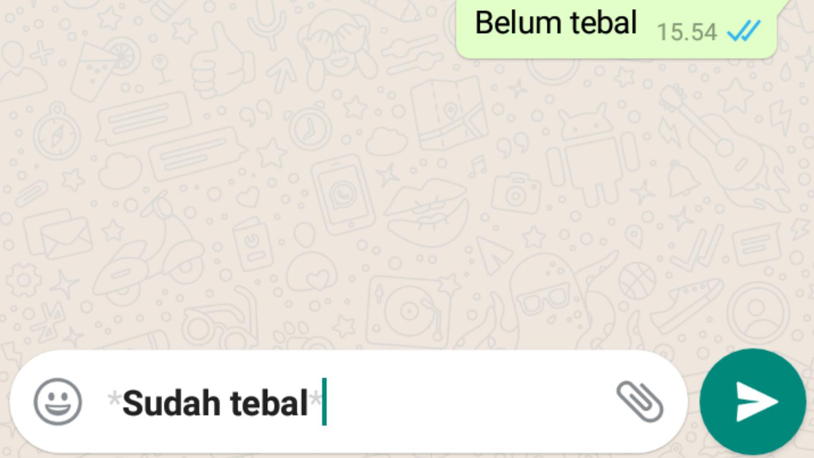 Trik Merubah Font Whatsapp dan Cara Merubah Huruf Jadi Tebal, Miring, Tercoret