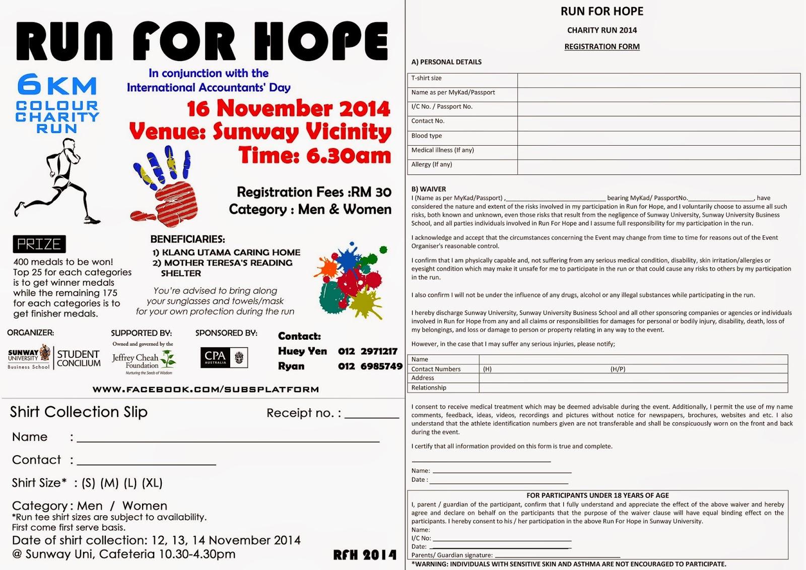 runnerific run for hope color charity run