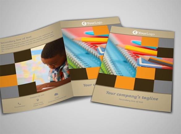 Free School Brochure PSD Templates
