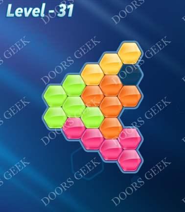 Block! Hexa Puzzle [Rainbow A] Level 31 Solution, Cheats, Walkthrough for android, iphone, ipad, ipod