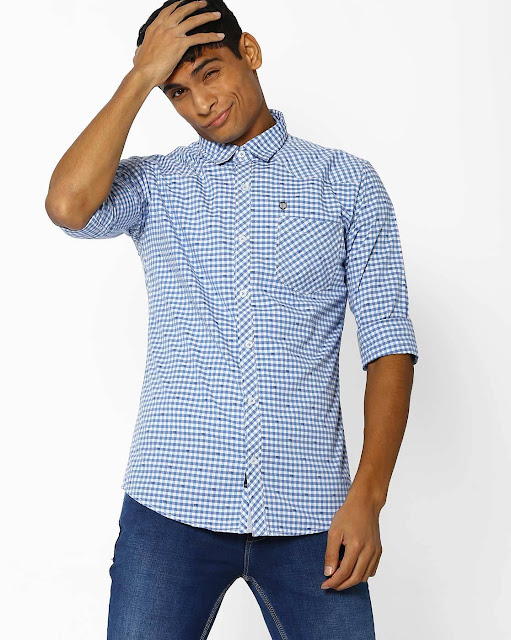 Ghingham Checked Shirt with Patch Pocket