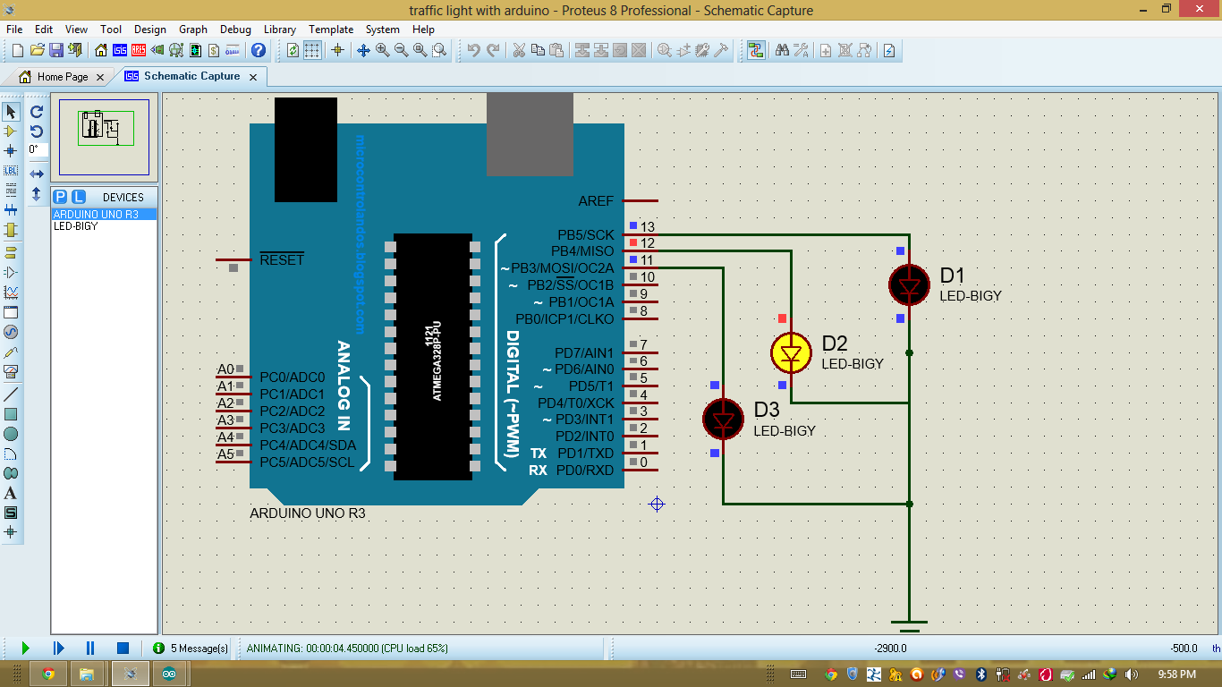 Figure 3 The Schematic Diagram Of The Traffic Light Circuit In Update