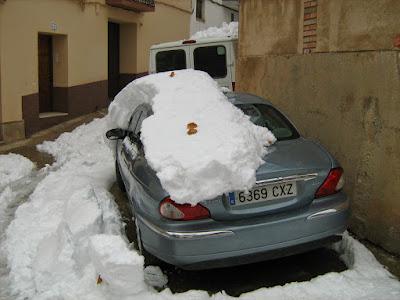 clima, Beceite, nieve, frío, nevada, está nevando, Beseit, neu, Jaguar, bomberets, las eras