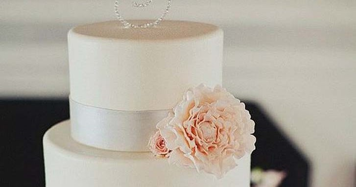 Romantic Silver Crystal Wedding Cake Topper