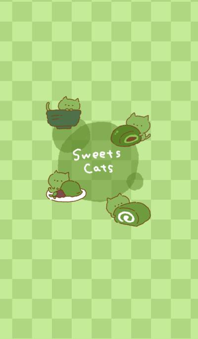 Sweets cats -matcha-