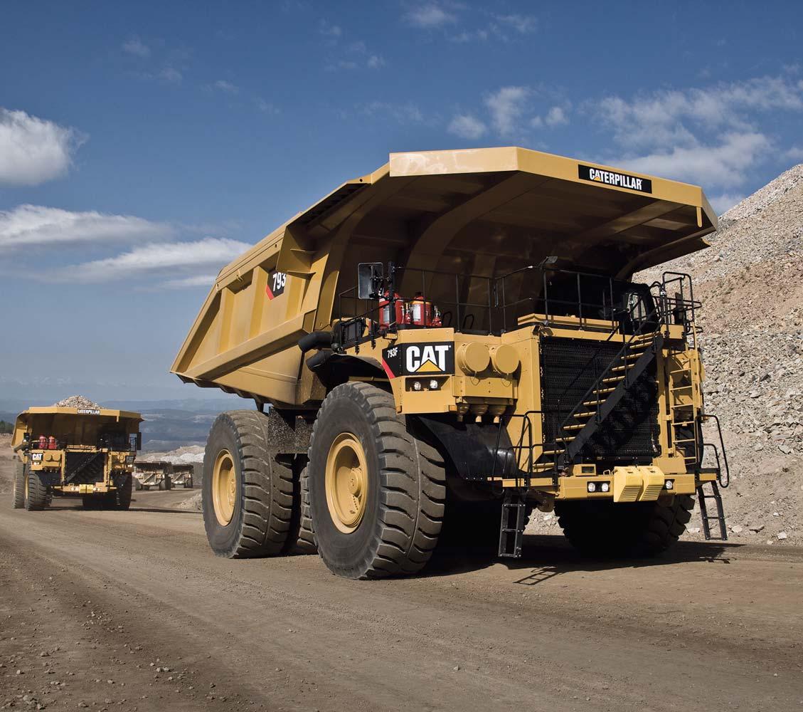mining truck engine