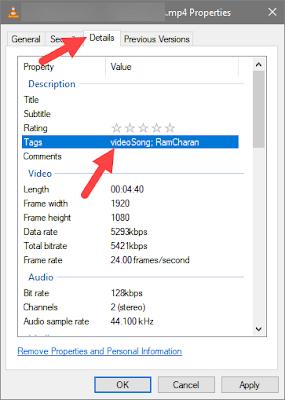 Cara memberi tag pada file di windows dari jendela properties-gambar 2