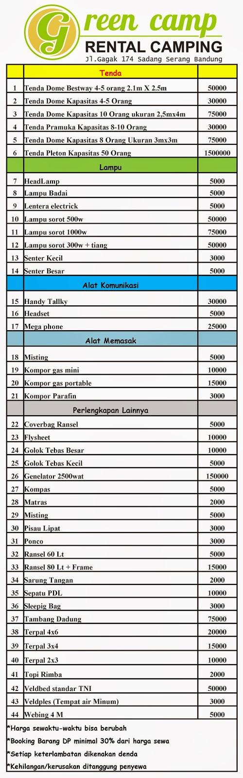 Sewa Tenda Sewa Tenda Camping Bandung Jalan Gagak