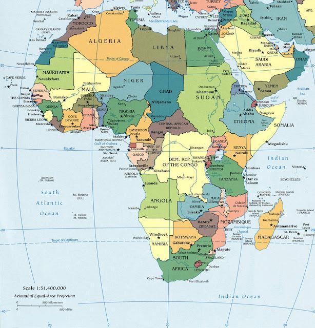 Cartina Geografica Africa