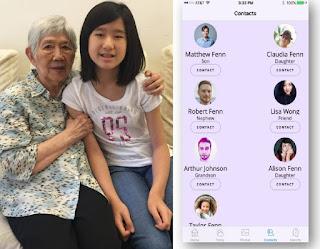 Niña crea aplicación para que su abuela que padece de alzheimer no la olvide