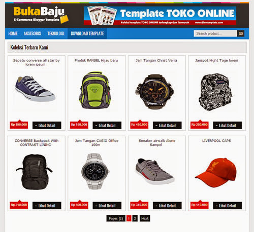 Download Template Toko Online Blogspot Gratis
