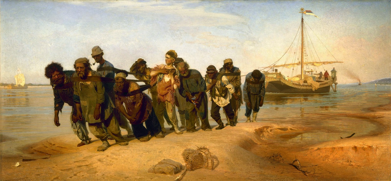 """Barge Haulers on the Volga"" Repin's artwork that fully conveys the fate of the Russian people."