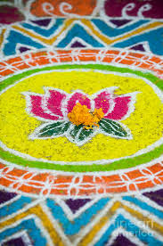 Rangoli Lotus Flower