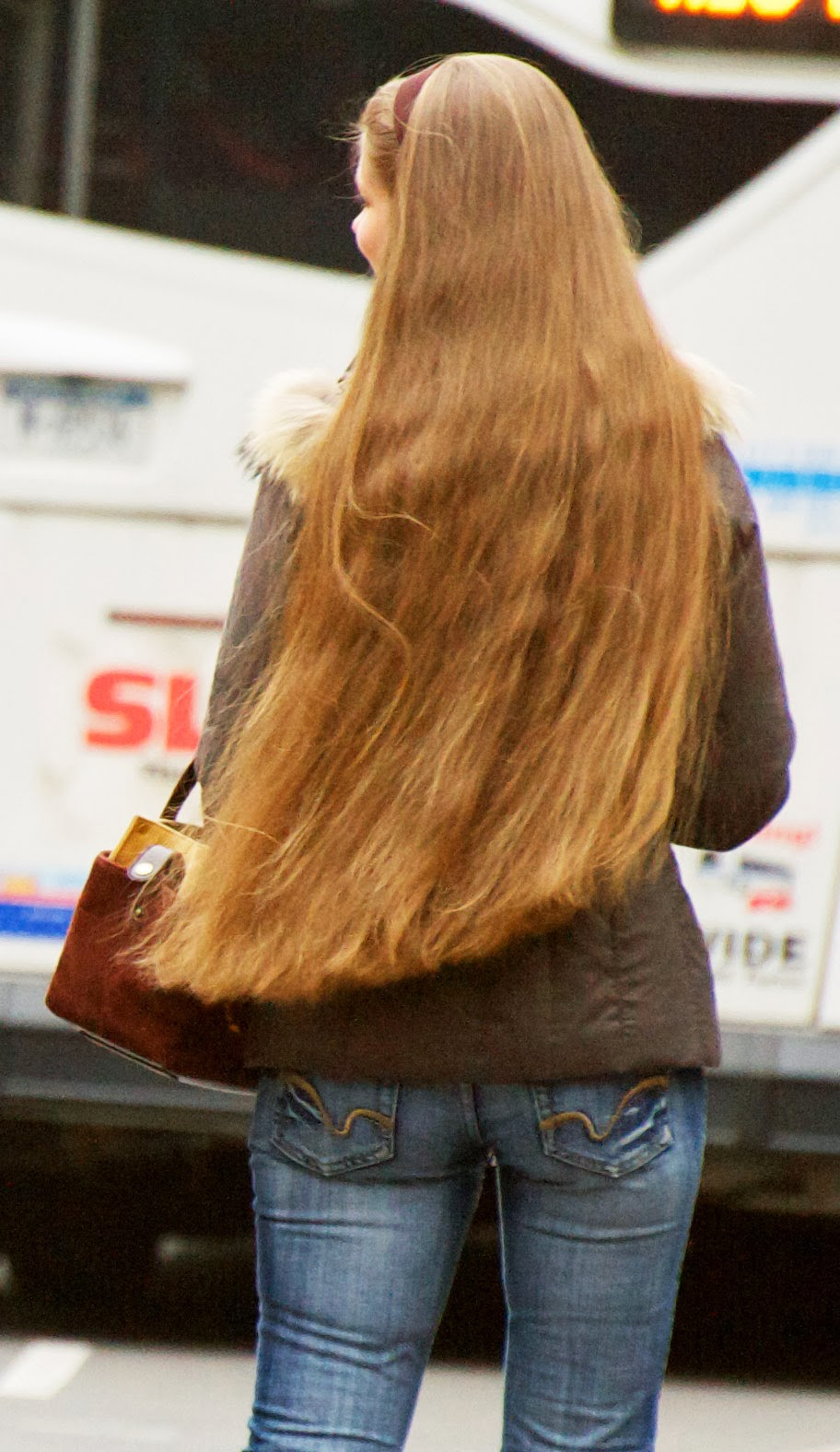 Long Haired Women Hall Of Fame Candid With Incredible Hair