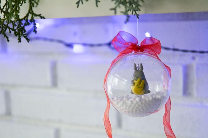 Bolas de navidad con Totoro