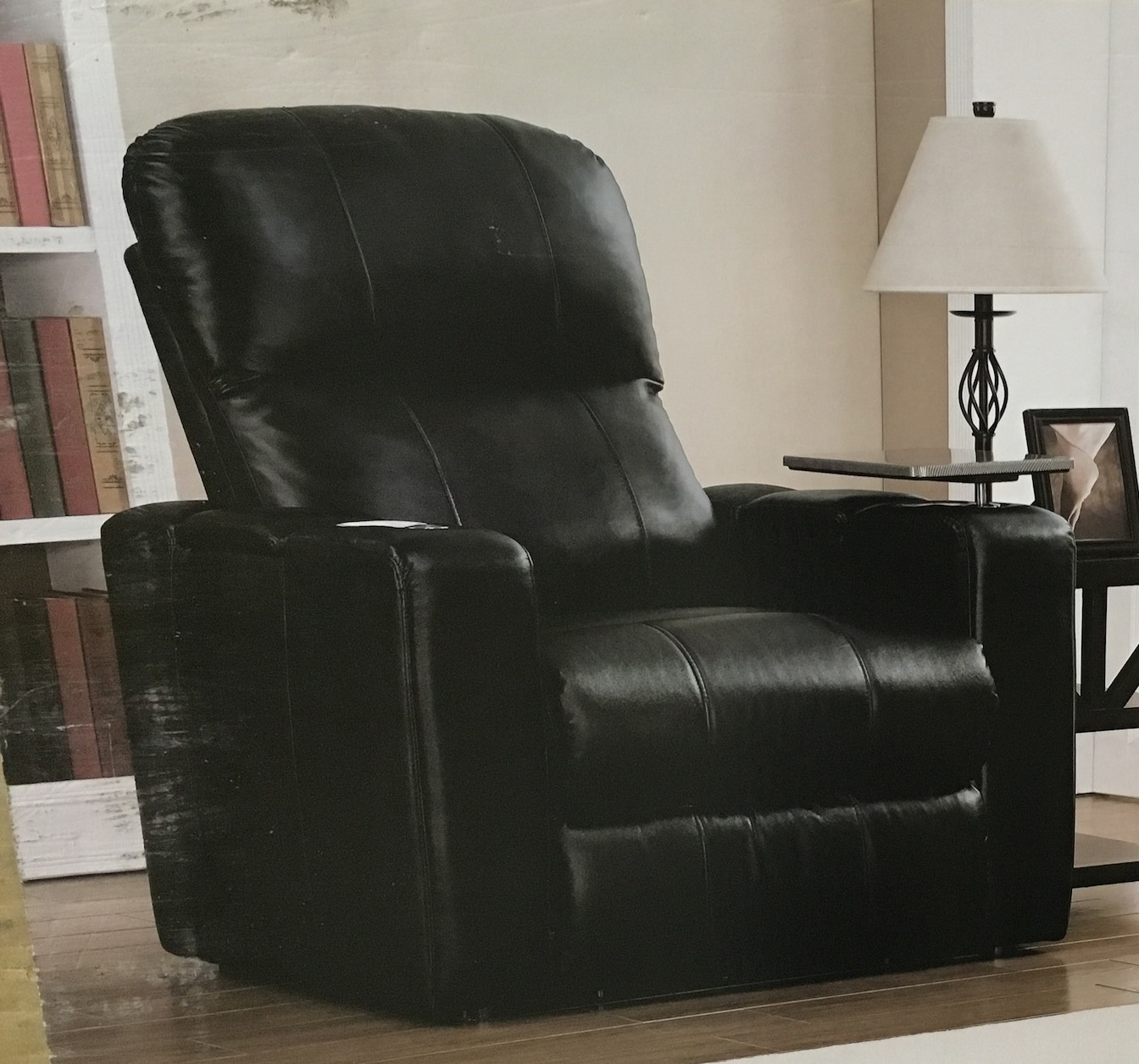 costco leather chairs best camping chair pulaski furniture home theater power recliner