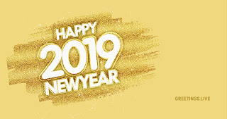 4K image New 2019 Year greetings Live