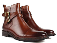 6. Christopher's Ankle Length Buckle Strap Formal Shoe - Brown