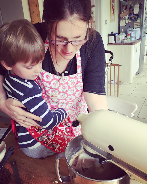 cake baking with Mummy