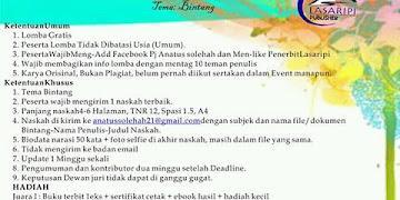 """Lomba Cerpen Bertema """"Bintang"""" Deadline 15 Maret 2017"""