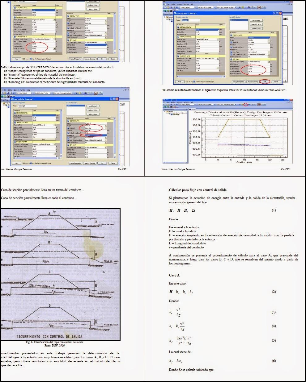 Diseño hidraulico de alcantarillas Software HY-8