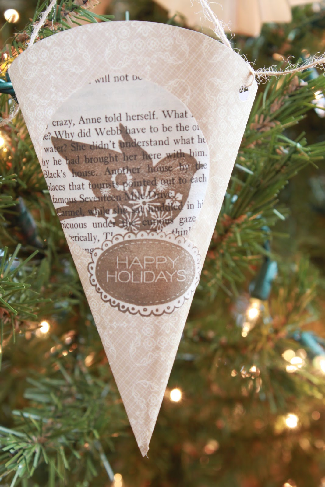 Book Page Christmas Ornament Tutorial... - Love of Family ...