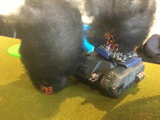 40k SW vs GSC Neophyte Cavalcade in ruins